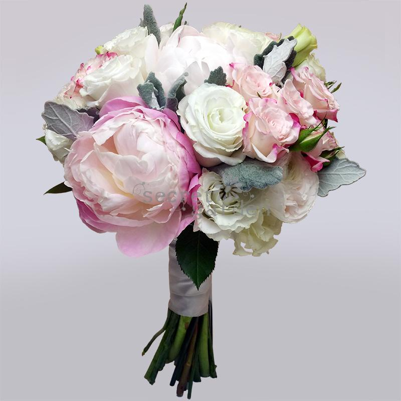 wedding bouquet singapore bb003 frosty pastel secret garden 8485